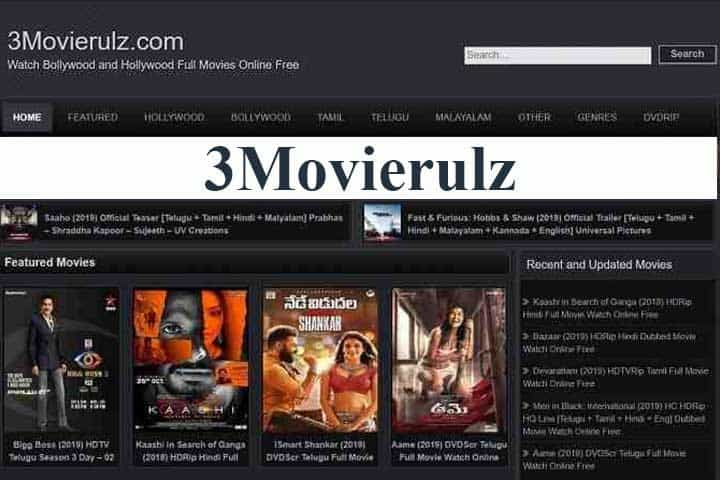 3Movierulz: Download Website for HD Bollywood and Hollywood Movies